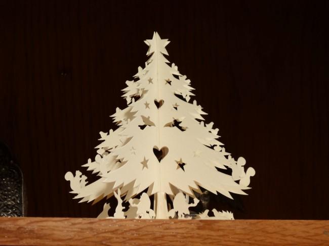 Granny Pat's paper Xmas tree