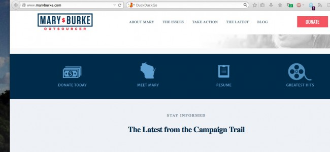 Mary Burke republican scam site